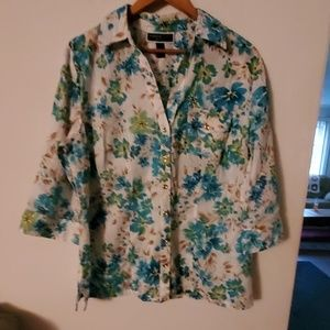 Karen Scott Woman NWT Multi Color Blouse - 0X